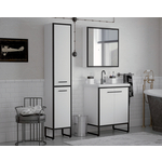 Мебель для ванной Corozo Айрон 60 черная/белая