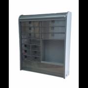 Шкаф-аптечка с жалюзийной шторкой Primanova M-09207 серый
