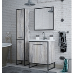 Мебель для ванной Corozo Айрон 60 черная/антик