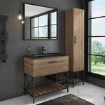 Мебель для ванной Comforty Бредфорд 90 дуб темный