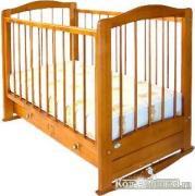 Можгинский Лесокомбинат Кровать с ящиком детская деревянная «Карина» вишня (г. Можга)