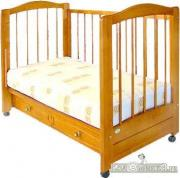 Можгинский Лесокомбинат Кровать с ящиком детская деревянная «Карина»орех (г. Можга)
