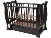 СЧАСТЛИВЫЙ МАЛЫШ Кровать детская ВЕНЕЦИЯ (универсальный маятник) Венге