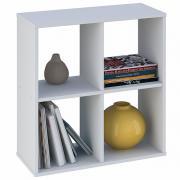 Стеллаж Polini Home Smart Кубический 4 секции, белый