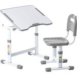 Комплект парта + стул трансформеры FunDesk Sole II grey