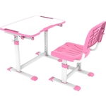 Комплект парта + стул трансформеры FunDesk Olea pink Cubby