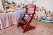 Растущий стул «Павлин» для ребенка - Бордовый, Деревянный 49x47x85
