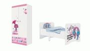 Детская комната Тролли: кровать раздвижная 3200+шкаф двухсекционный