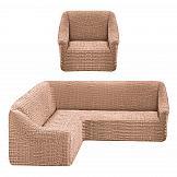 Купить Комплект чехлов для мебели «Марапонг (песочный)» по цене 4480 руб. с доставкой по Москве и России - интернет-магазин «ТомДом»