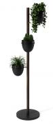 Подставка для цветов Floristand Planter с горшками 3 шт, темный орех Umbra
