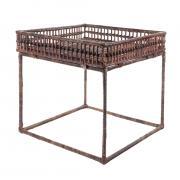 Стол-подставка Van der leeden для кашпо 53x53h52cm коричневый