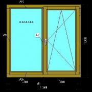 Деревянное окно (Стандарт) из сосны со стеклопакетом 1560х1530 мм