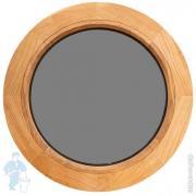 Оконный блок круглый/глухой, дуб, стеклопакет, D600мм
