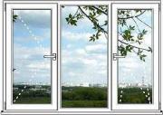 Окно ПВХ Пластиковое Окно Blitz Design - размер 1450мм*1850мм