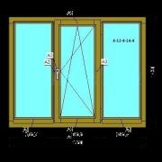 Деревянное окно (Стандарт) из сосны со стеклопакетом 1760х1420 мм