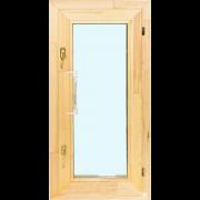 Деревянное окно со стеклопакетом Эконом 580х1200 мм