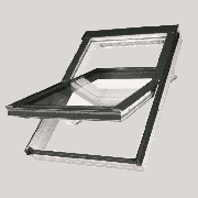 FAKRO Мансардное окно FTP-V U4 94*140 двухкамерное