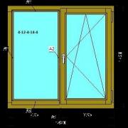 Деревянное окно (Стандарт) из сосны со стеклопакетом 1470х1420 мм