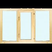 Деревянное окно со стеклопакетом Эконом 1600х1300 мм
