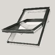 "FAKRO Манc. окно PTP-V /GO U3 из ПВХ 114*118 ""Зол. дуб"""