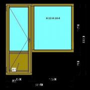 Деревянный балконный блок (Стандарт) из сосны со стеклопакетом2140х2250 мм