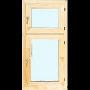 Деревянное окно со стеклопакетом Эконом 600х1200 мм