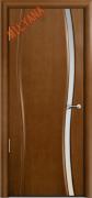 Межкомнатная дверь MILYANA Omega 1 Цвет:Анегри, Остекление:Триплекс белый