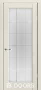 Дверь Stokgolm массив сосны дублированный МДФ белый шелк со стеклом
