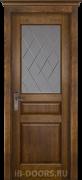 Дверь Piemonte массив сосны античный орех со стеклом