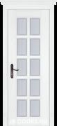 Дверь Sardegna 4 массив дуба белый со стеклом