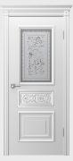 Межкомнатная дверь De Luxe Премьера Цвет:Эмаль белая Тип:Со стеклом