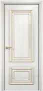 Дверь Оникс модель Мадрид Цвет:эмаль белая с патиной золото Остекление:Без стекла