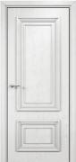 Дверь Оникс модель Мадрид Цвет:эмаль белая с патиной серебро Остекление:Без стекла