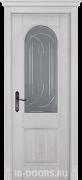 Дверь Monferrato массив дуба вайт со стеклом