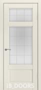 Дверь Gothenburg массив сосны дублированный МДФ белый шелк со стеклом