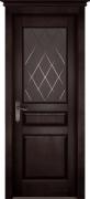 Межкомнатная дверь Валенсия массив ольхи Цвет:венге Тип:со стеклом