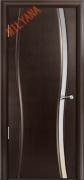 Межкомнатная дверь MILYANA Omega 1 Цвет:Венге, Остекление:Триплекс белый