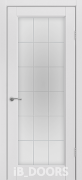 Дверь Stokgolm массив сосны дублированный МДФ белый жемчуг со стеклом