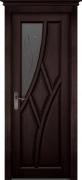 Межкомнатная дверь Глория массив ольхи Цвет:венге Тип:со стеклом