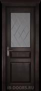 Дверь Piemonte массив сосны венге со стеклом