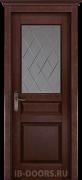 Дверь Piemonte массив сосны махагон со стеклом