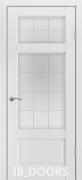 Дверь Gothenburg массив сосны дублированный МДФ белый жемчуг со стеклом