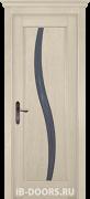 Дверь Alessandria массив сосны крем со стеклом
