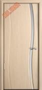 Межкомнатная дверь MILYANA Omega Цвет:Беленый дуб, Остекление:Триплекс белый
