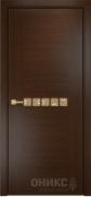 Межкомнатная дверь Оникс Акцент Цвет:Венге Тип:Глухая