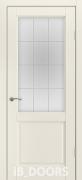 Дверь Bergen массив сосны дублированный МДФ белый шелк со стеклом