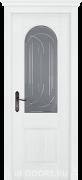 Дверь Monferrato массив дуба белый со стеклом