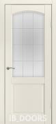 Дверь Oslo массив сосны дублированный МДФ белый шелк со стеклом