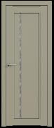 Дверь ProfilDoors Серия U модель 2.70U Цвет:Шеллгрей Остекление:Дождь черный