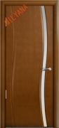 Межкомнатная дверь MILYANA Omega Цвет:Анегри, Остекление:Триплекс белый